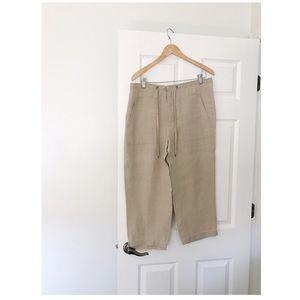 Liz Claiborne Linen Ankle Pants